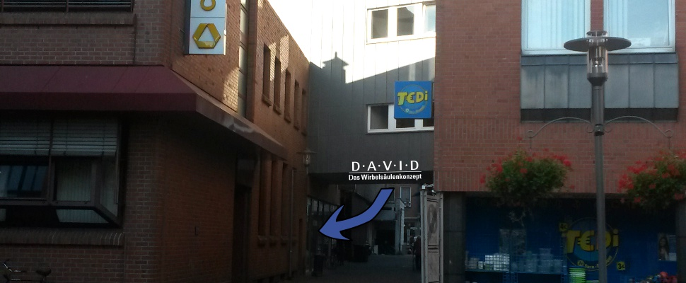 Anfahrt DAVID in Bocholt